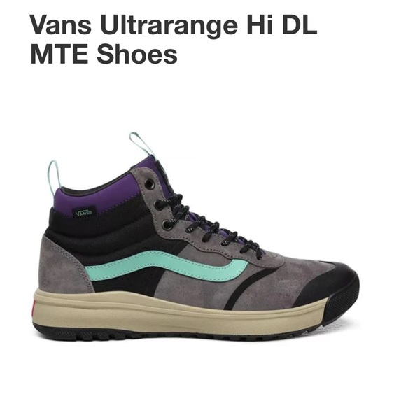 Vans Ultrarange Hi Sneaker Pewter Eucalyptus 11.5